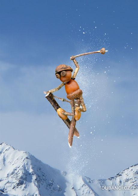 Akrobatický lyžař