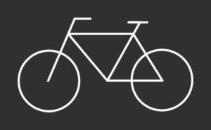 Minimalistický cyklo motiv pro cyklisty