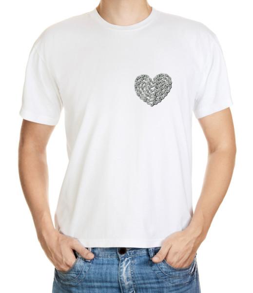 Tričko s cyklomotivem srdce z řetězu