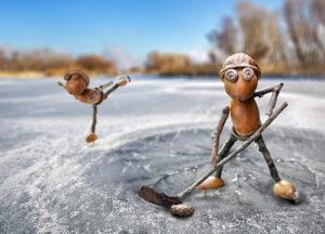 Dubánci na ledě – pohlednice