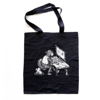 Černá taška s dubánčími motivy