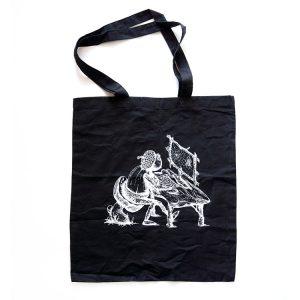 Černá lehká taška s kresleným dubánkem
