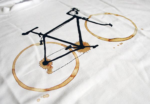 Coffee bike - fotka skutečného potištěného trička