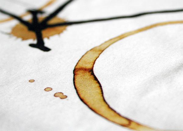 Coffee bike - detail potisku trička