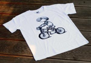 Náhled trička s dubánkem cyklistou