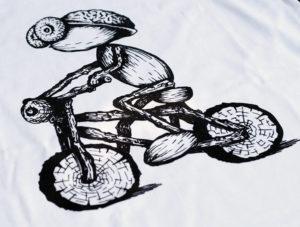 Detail dubánčího cyklisty