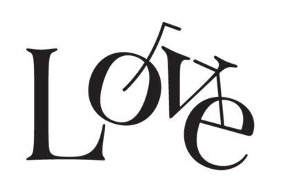 Love - cyklistické tričko s hravými písmenky