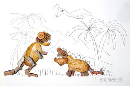 Dubnetky ukázka - souboj dinosaurů