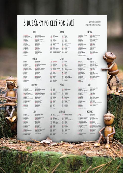 Plakát s kalendářem 2019 – les