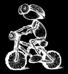 Dubánčí biker – bílé provedení pro tmavá trička