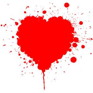 Krvavý valentýn – drsný valentýnský motiv