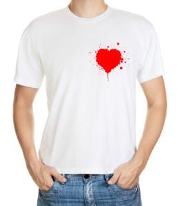 Krvavý valentýn - drsnější zamilovaný motiv na triko