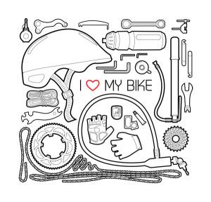 I love my bike – černá verze potisku