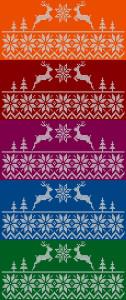 Motiv pleteného jeleního vzorku na tričko