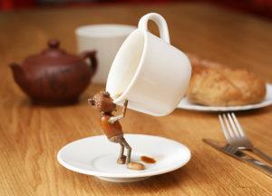 Dubánek kafař – pohlednice