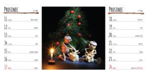 Náhled prosincové stránky kalendáře