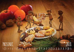 Nástěnný dubánčí kalendář – prosinec