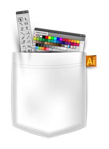 Motiv kapsy s paletami z Adobe Illustrátoru