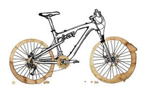 Horské kávové triko – motiv pro bikery a kafomily