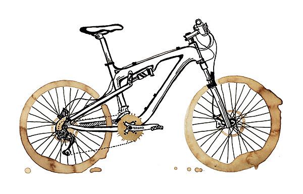 Horské kávové triko - motiv pro bikery a kafomily