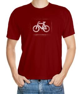 Tričko s bílým vysprejovaným motivem kola