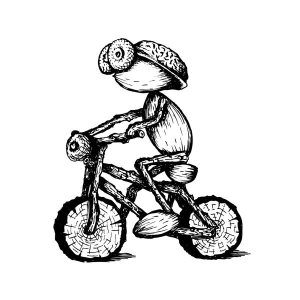Kreslený cyklista