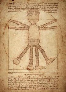 Leonardo Da Vinci ve stylu dubánka