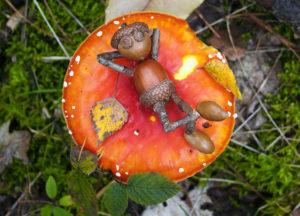 Dubánek na houbách… doslova