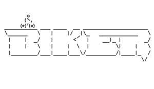Motiv s nápisem biker – asciiart