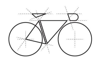 Minimalistický motiv na tričko pro cyklisty