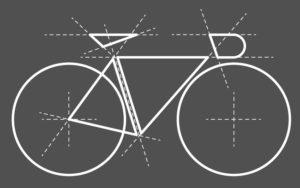Geometrický motiv kola pro cyklistické triko