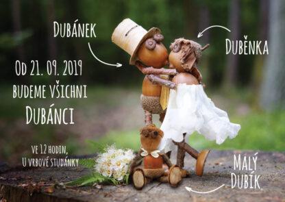 Svatební oznámení s malým dubánkem