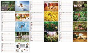 Náhled všech stránek kalendáře