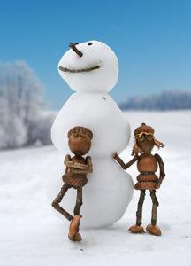 Dubánci a sněhulák – pohlednice