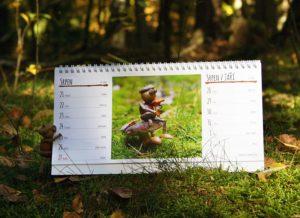 Náhled stránky stolního kalendáře