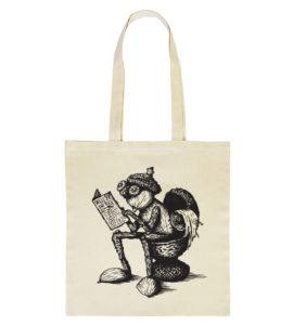 Přírodní taška s kresbou relaxujícího dubánka