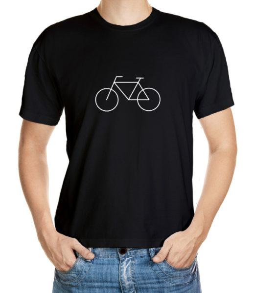 Cyklistické tričko s minimalistickým cyklo motivem