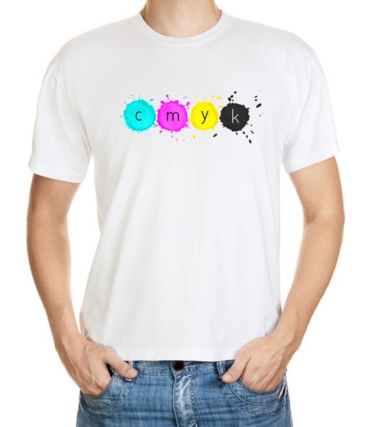 Tričko pro tiskové grafiky - pracující v CMYK barevném módu