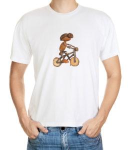 Tričko s dubánkem cyklistou