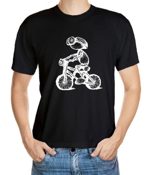 Tričko s dubánčím cyklistou