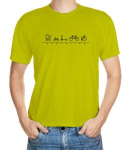 Tričko s evolucí cyklisty