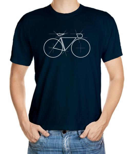 Tričko pro cyklisty s geometrickým motivem kola