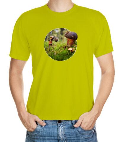 Tričko pro houbaře - zelené podkladové tričko