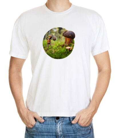 Tričko pro houbaře - bílé podkladové tričko