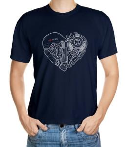 I love my bike - motiv s cyklovybavením poskládaným do tvaru srdce