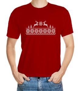 Zimní tričko imitující svetr