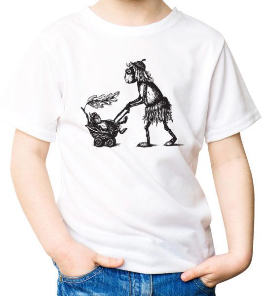Tričko pro holčičky s duběnkou, kočárkem a malým dubánkem