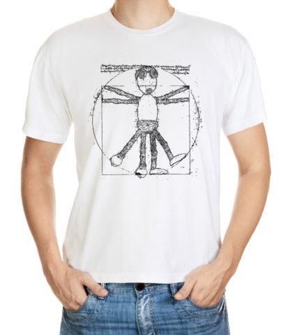 Tričko s dubánčí postavou ve stylu Leonardo da Vinci