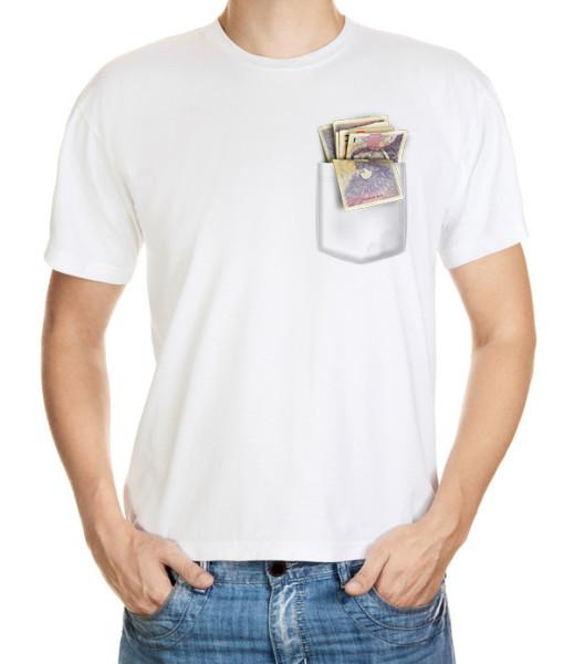 Tričko s kapsou naditou penězi