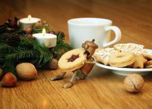 Vánoční pohled s cukrovím